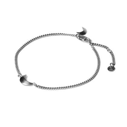 Jane Kønig Half Moon armbånd i sølv