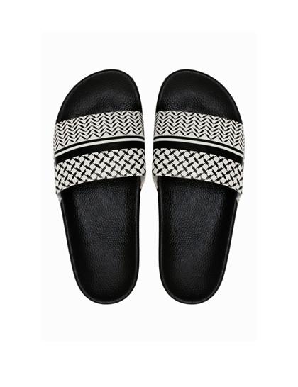 Lala Berlin Ariella slippers i sort/hvid