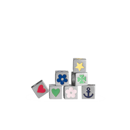 Jane Kønig hjerte Loveletter symbol i sølv