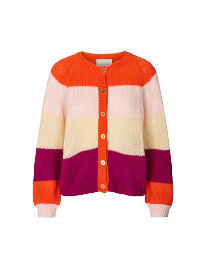 Lollys Laundry Nova Cardigan i orange