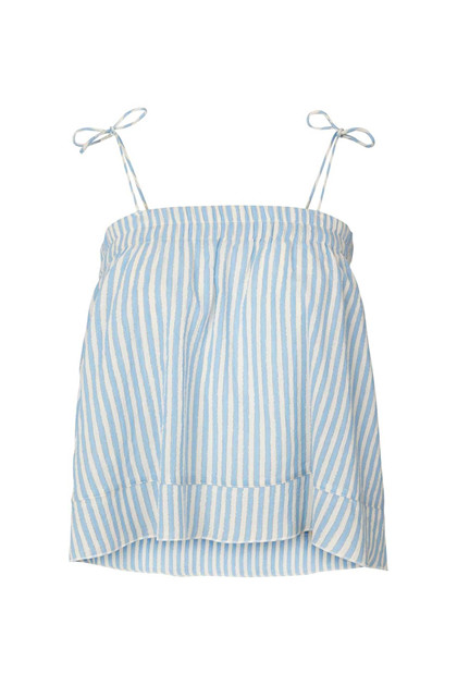 Lollys Laundry Carmen top i lys blå