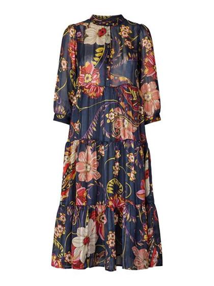 Lollys Laundry Olivia kjole i dark blue