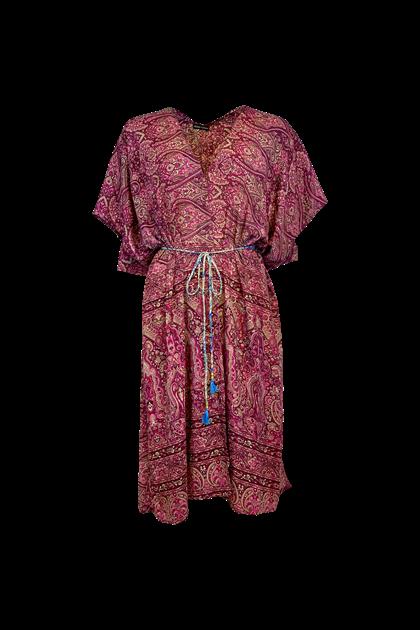 Black Color Luna Kimono kjole i pink