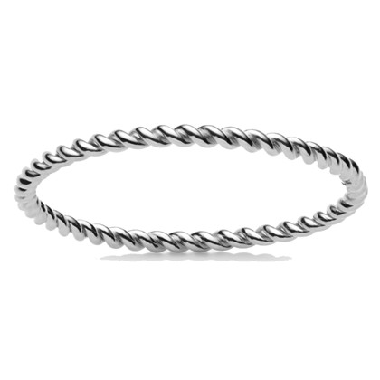 Maanesten Twist ring i sølv