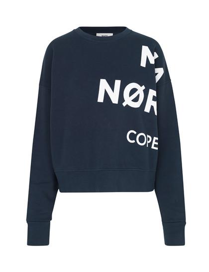 Mads Nørgaard Tilvina Mega P sweatshirt i navy