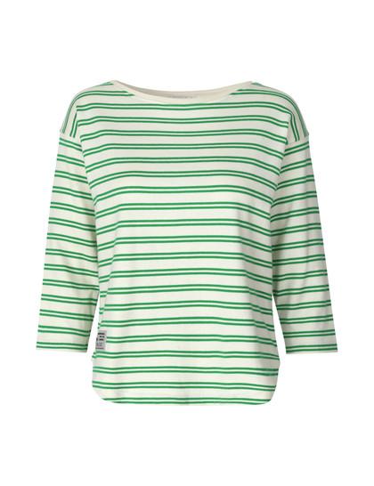 Mads Nørgaard Thilke bluse i grøn m. striber
