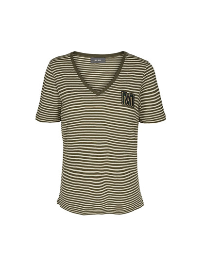 Mos Mosh Alisha V-neck T-shirt i stribet