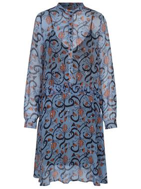 Munthe Alyssa kjole i blå m. mønster