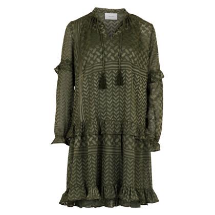 Neo Noir Abela Burnout kjole i army