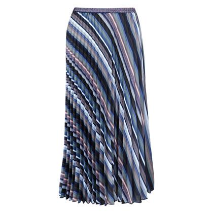 Neo Noir Fria Graphic Stripe nederdel i stribet