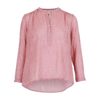 Neo Noir Gunbrit Crepe bluse i rosa