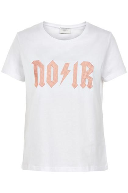 Neo Noir Jamie T-shirt i hvid m. tekst