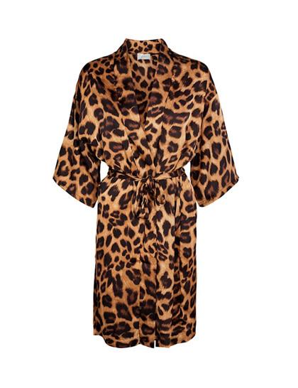 Neo Noir Kelsie Kimono i leopard