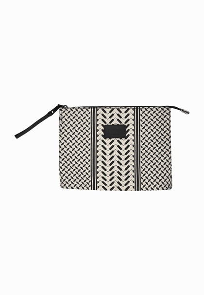 Lala Berlin Pouch Pili taske i sort/hvid