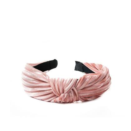 Rosenvinge velvet hårbøjle i rosa