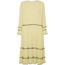 NORR Mette S/S kjole i gul