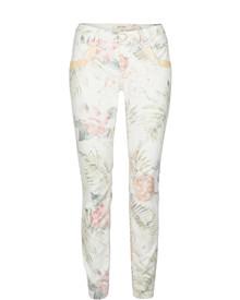Mos Mosh Naomi Glam Tropic bukser i off white