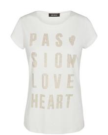 Mos Mosh Crave Rivet T-shirt i hvid