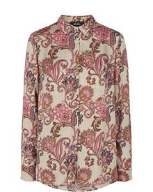 Mos Mosh Taylor skjorte i blomster mønster