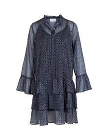 Neo Noir Iben Mosaic kjole i blå