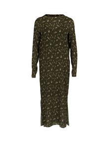 Neo Noir Vogue Green Flower kjole i army