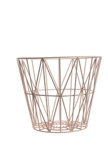 Ferm Living Wirebasket medium pink