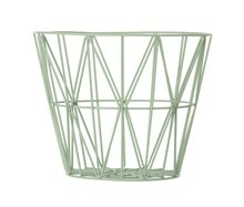Ferm Living Wire Basket large grøn