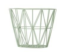 Ferm Living Wire Basket large grøn