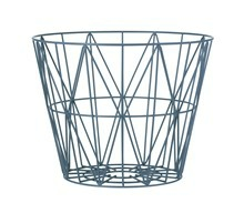 Ferm Living Wirebasket small blå