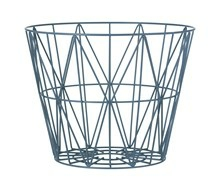 Ferm Living Wirebasket medium blå