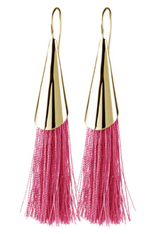 Dyrberg/Kern pink Cybill øreringe i forgyldt sølv