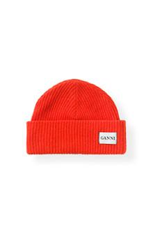 Ganni Hatley hue i rød