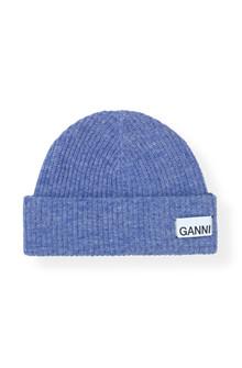 Ganni A2035 Knit hat i lilla