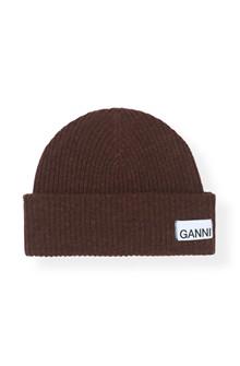 Ganni A2035 Knit hat i brun
