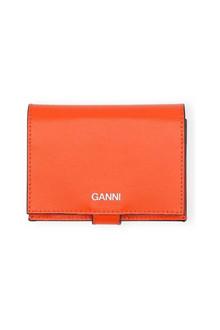 Ganni A2171 Texture leather pung i orange