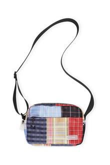 Ganni A2189 Tech Fabric taske i multi farvet