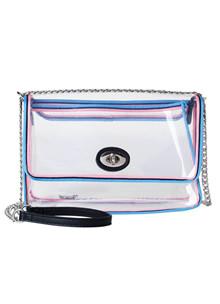 Becksöndergaard Transparent taske i blå/pink