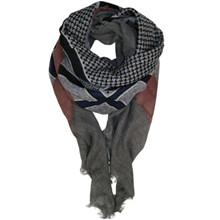 Black Colour Abby uld Deluxe tørklæde i grå