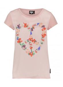 Catwalk Junkie Floral Heart t-shirt i rosa