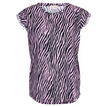 Custommade Connie zebra T-shirt i Lilla