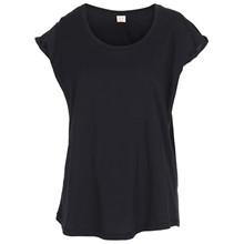 Custommade Lonnie Plain T-shirt i sort
