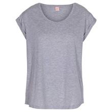 Custommade Lonnie plain T-shirt i grå