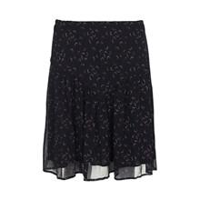 Custommade Luella silke nederdel i navy