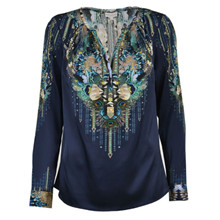 Dea Kudibal Irene Exclusive bluse i Peacock