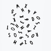 Design Letters Bogstavs Boks i sort
