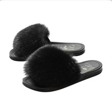 Oh! By Kopenhagen fur x H2O slipper i sort