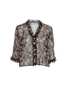 EMM Ebba skjorte i sort/mønstret