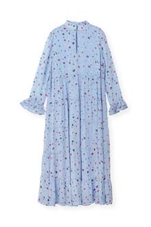 Ganni Dainty Georgette kjole i blå