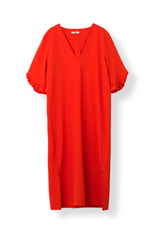 Ganni Clark kjole i rød