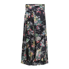 Karmamia Flower Bouquet wrap skirt nederdel i sort